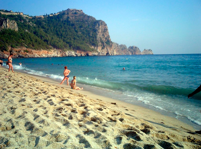Песок на пляже Клеопатра
