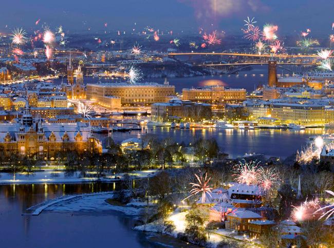 Встреча нового года в Стокгольме