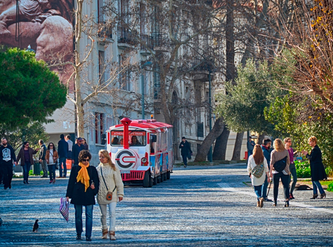 Афины в начале декабря