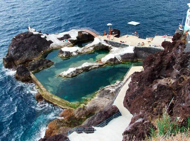 Природные бассейны на острове Мадейра