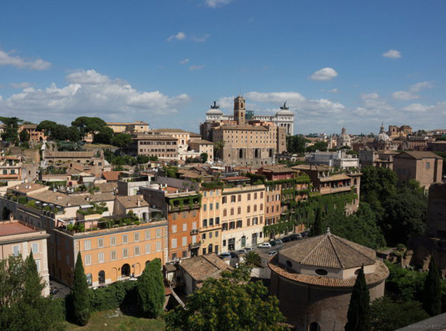 Вид на Рим с холма Палатин
