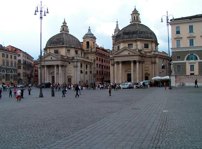Церкви Санта-Мария-ин-Монтесанто и Санта-Мария-деи-Мираколи