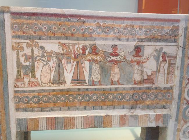 Сцена поклонения на саркофаге 14 века до н.э.