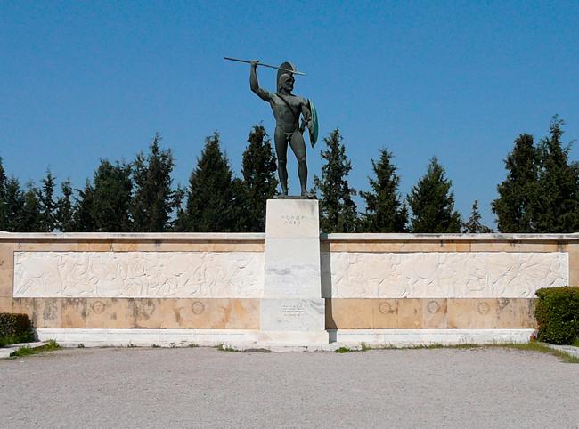Мемориальная стена в память о Марафонской битве
